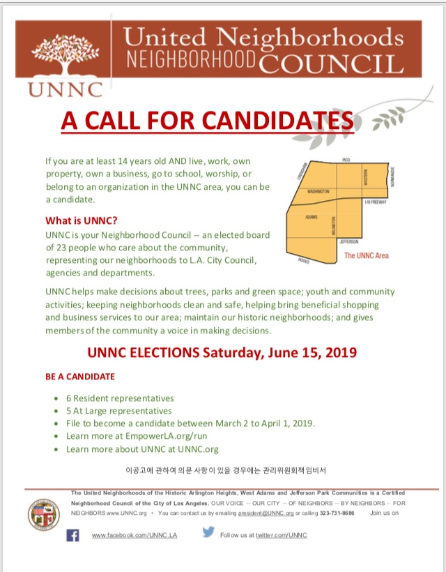 2019 UNNC Elections