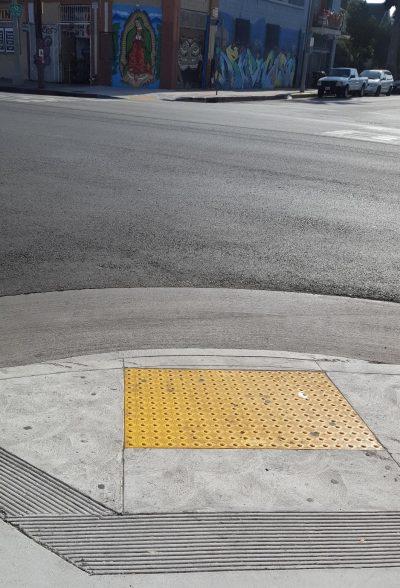 Handicap Accessible sidewalks at Hobart and Venice.